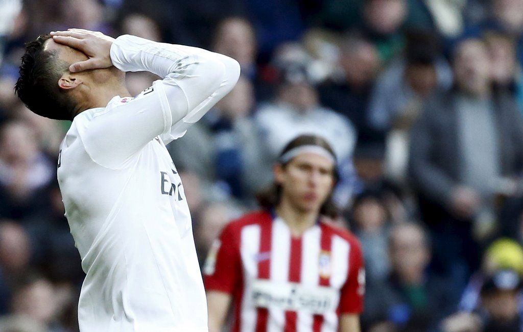 Cristiano Ronaldo ficou frustrado contra o Atlético de Madri / Juan Medina/Reuters