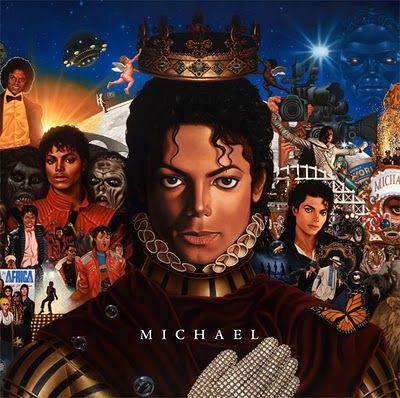 Capa de Michael, disco póstumo do Rei do Pop que chega hoje às lojas