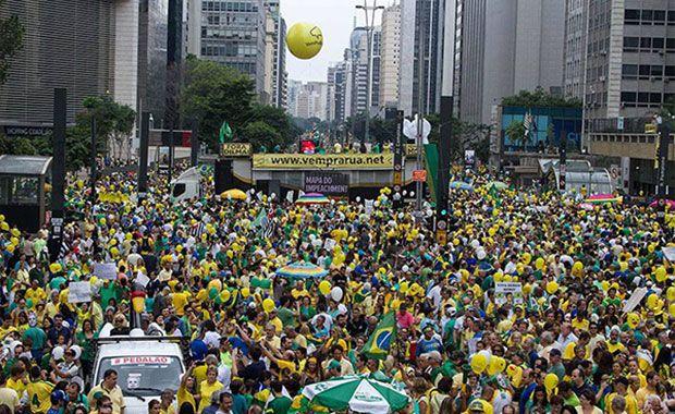Hino Nacional nos protestos de São Paulo