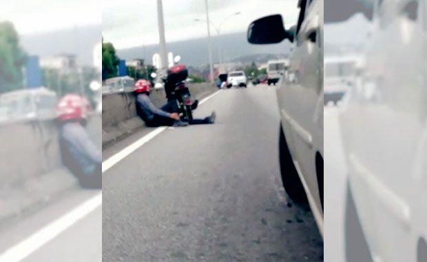 Motoristas se assustam com troca de tiros entre policiais e bandidos