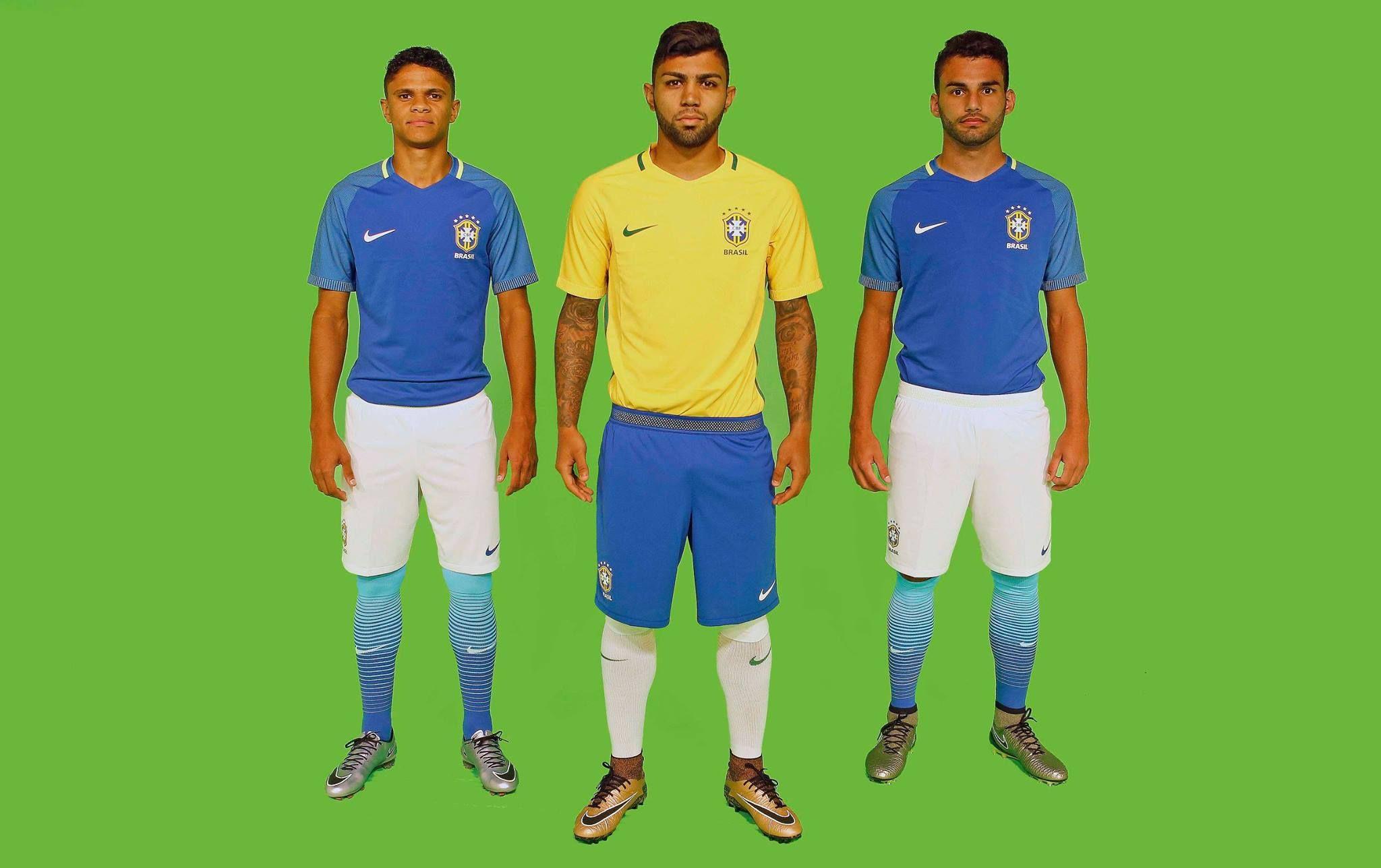 CBF divulga novos uniformes da Seleção - Band.com.br 29c7791a079d6