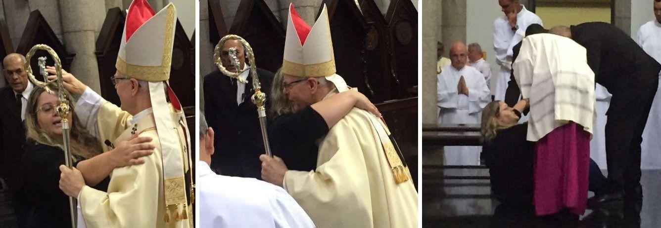 Arcebispo ficou com algumas escoriações, segundo assessoria