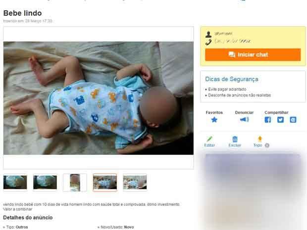 Anúncio foi retirado do site de vendas na internet / Reprodução | OLX