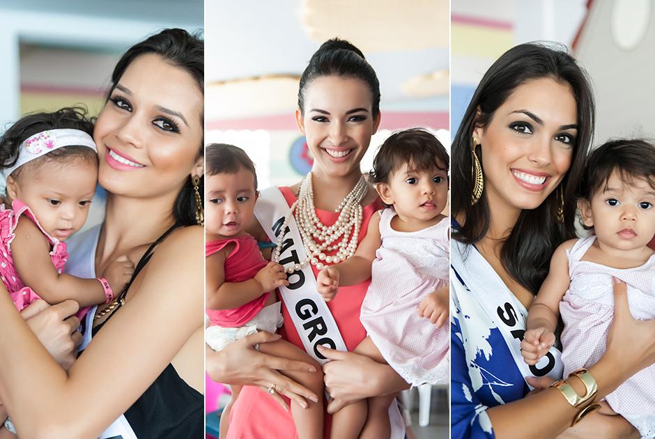 As 27 candidatas ao t�tulo Miss Brasil 2014 estiveram nesta sexta-feira, dia 19, no Instituto de Preven��o � Desnutri��o e � Excepcionalidade (Iprede)