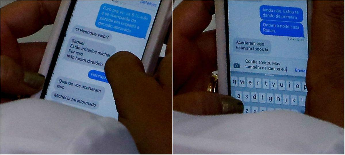 troca de mensagens Kátia Abreu