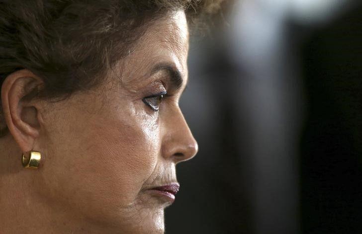 Presidente Dilma Rousseff durante entrevista coletiva em Brasília / Adriano Machado/Reuters