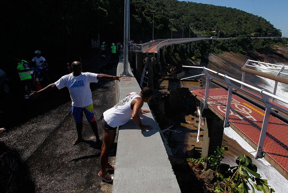 Acidente na ciclovia da Avenida Niemeyer, Zona Sul do Rio, deixa mortos na manhã desta quinta-feira / Maíra Coelho/Agência O Dia/Estadão Conteúdo