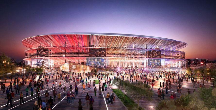 Barcelona mostra projeto de modernização do Camp Nou