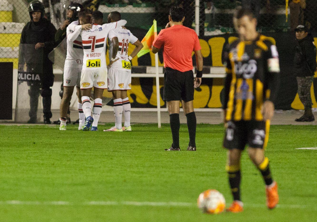 Calleri fez o gol que classificou o São Paulo - Ivan Canelas Lizarraga/Reuters