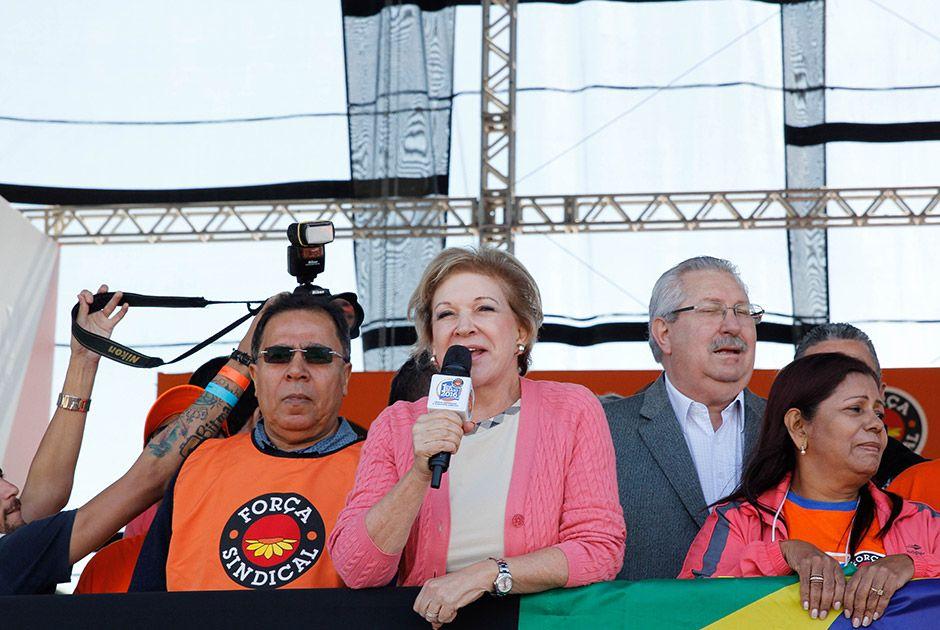 Marta Suplicy é vaiada durante discurso em evento da Força
