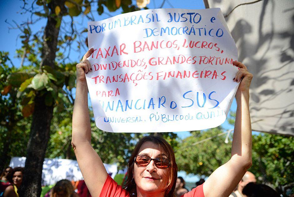 Ato contra impeachment de Dilma no Rio tem discursos e apresentações