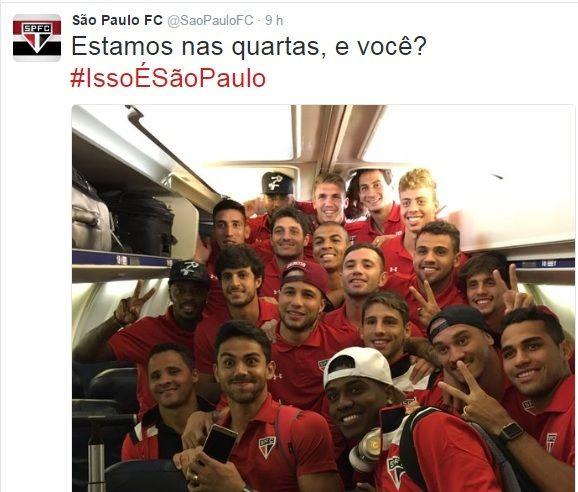 São Paulo provoca os rivais após classificação