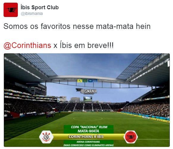 Íbis desafia Corinthians após eliminação