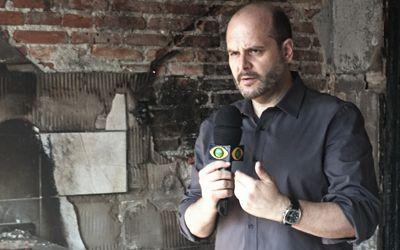 Gilberto Smaniotto, Giba como é conhecido pelos colegas de trabalho, faz parte da equipe do Jornal da Band / Arquivo Pessoal