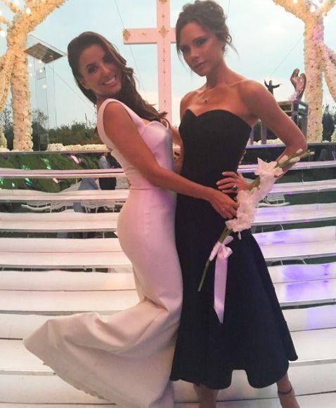 Victoria Beckham parabeniza Eva Longoria por casamento