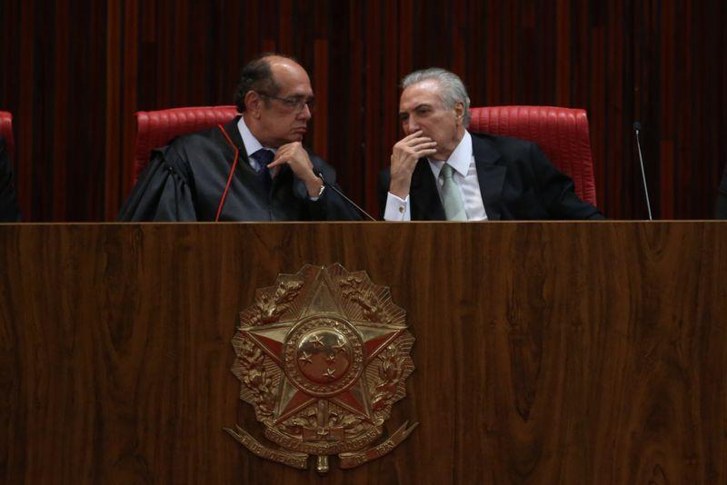 Gilmar procurou Temer após 'preocupação' com saída de Jucá
