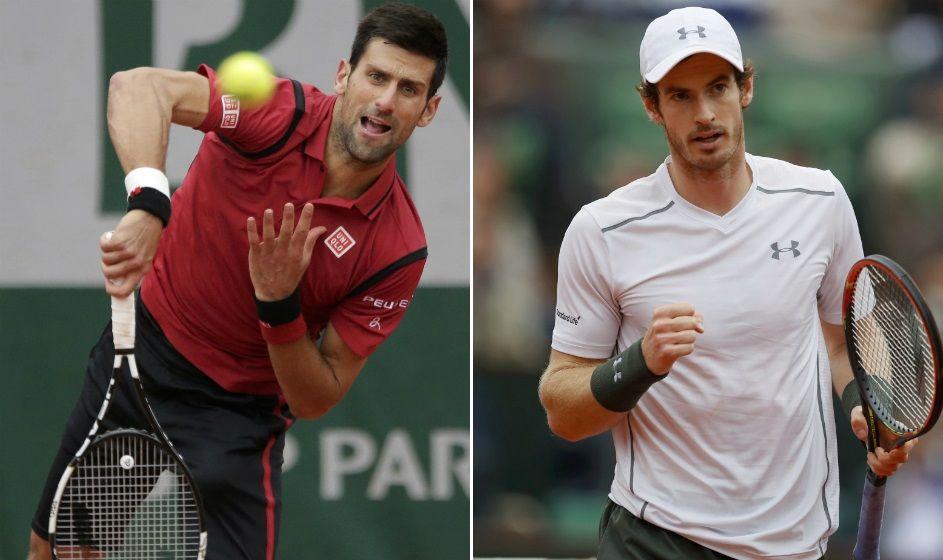 Djokovic e Murray decidem título de Roland Garros