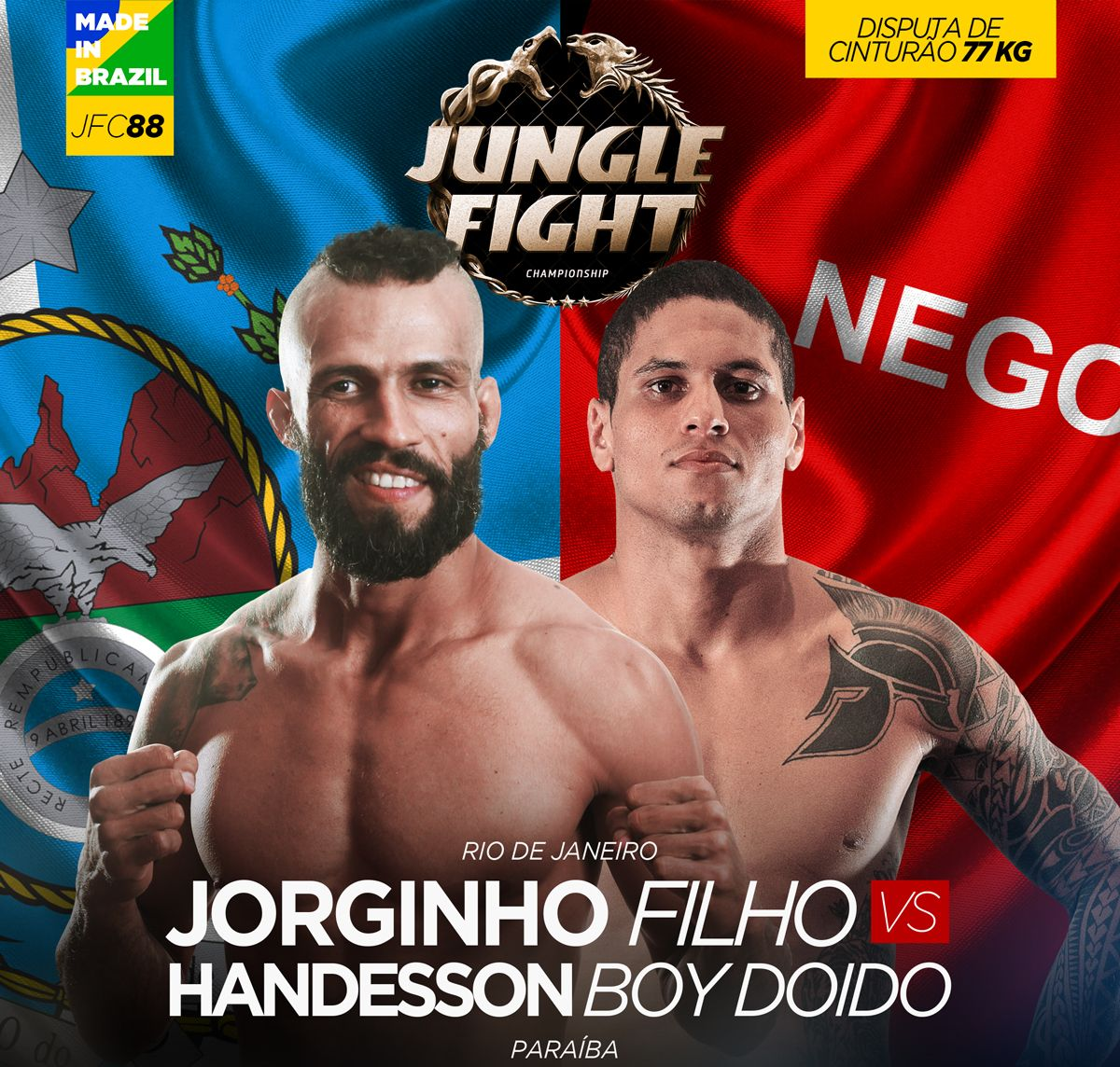 Jungle Fight 88 tem desafiante que disputou o oscar do MMA