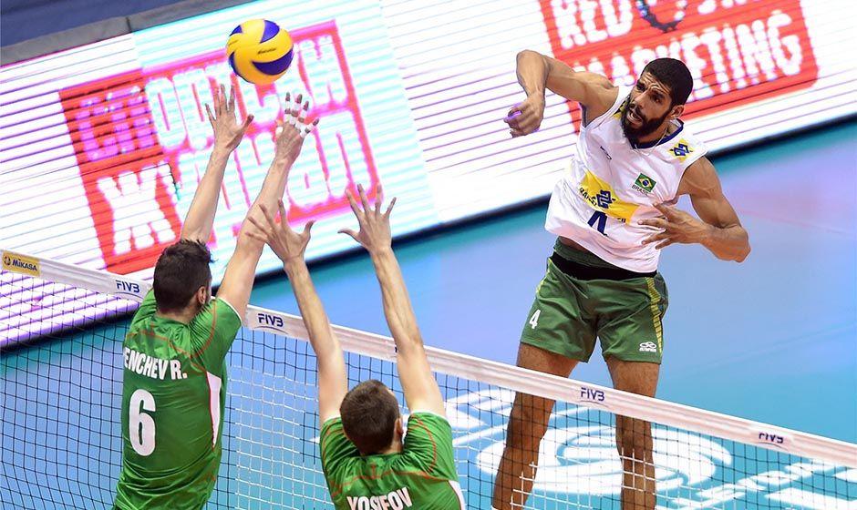 Brasil atropela a Bulgária pela Liga Mundial
