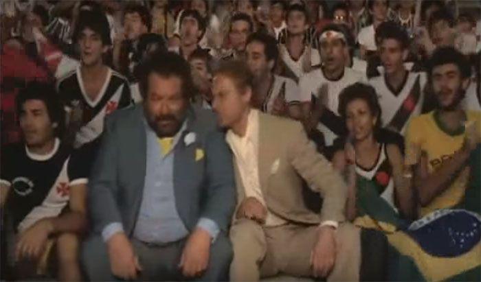 Bud Spencer já fez cena maluca na torcida do Vasco