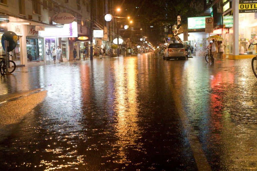 Balneáriu Camburiú também sofreu com as chuvas