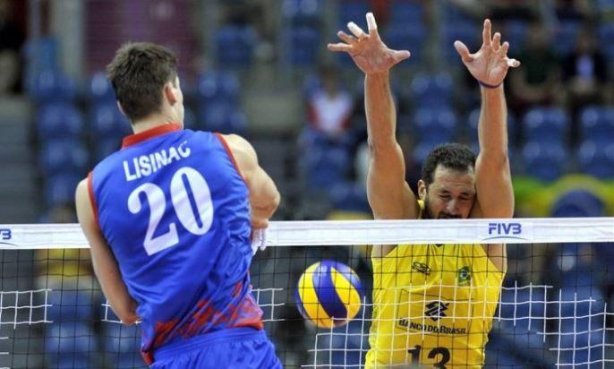 Brasil perde para Sérvia e é vice da Liga Mundial