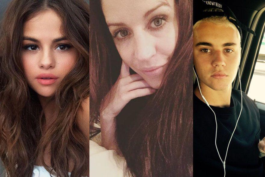 Mãe de Bieber manda mensagem para Selena Gomez