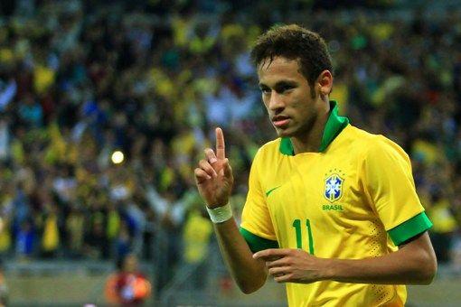 Neymar e Gabriéis em campo