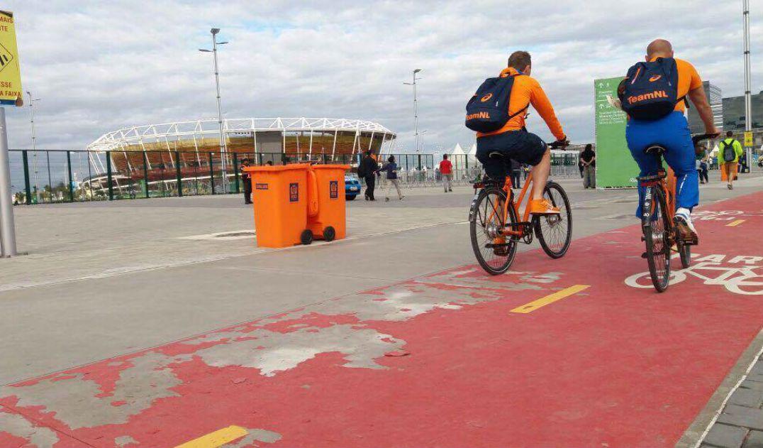 Chuva descasca ciclovia recém-inaugurada do Parque Olímpico