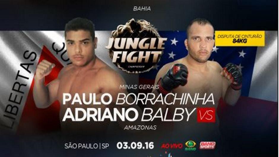 Borrachinha defende cinturão contra Balby nos 13 anos de JF