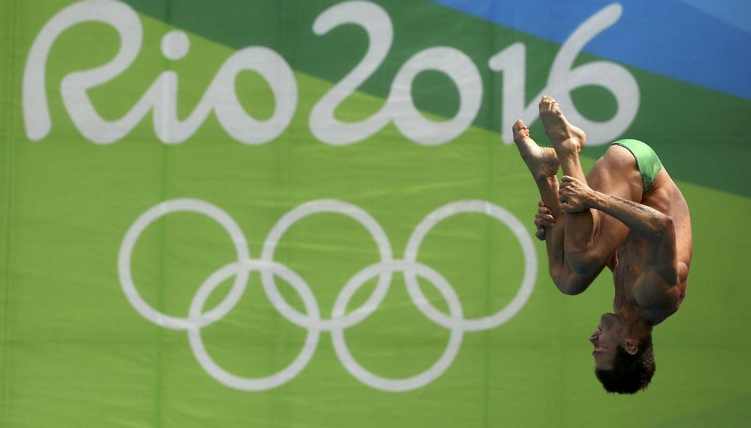 Brasileiro Hugo Parisi é eliminado nas semifinais dos saltos ornamentais