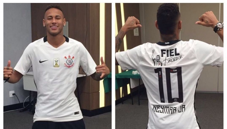 Corinthians posta foto de Neymar com camisa do clube