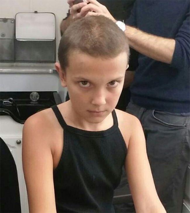 Atriz de Stranger Things mostra quando raspou cabelo