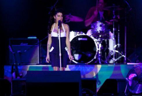 Amy Winehouse durante show em São Paulo / Foto: Daniel Teixeira/AE