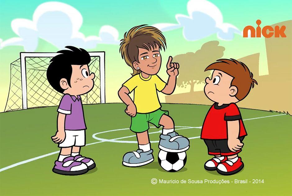 Crianças Que Jogam O Futebol Nos Desenhos Animados Do: Desenho Animado De Neymar Estreia Na Web