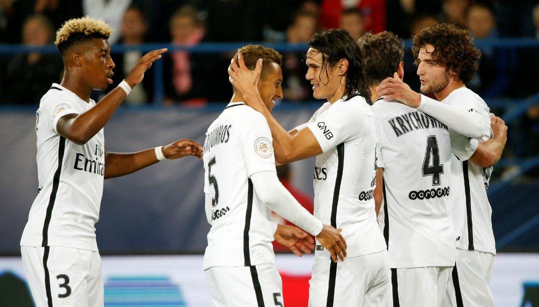 PSG atropela o Caen por 6 a 0 no Francês