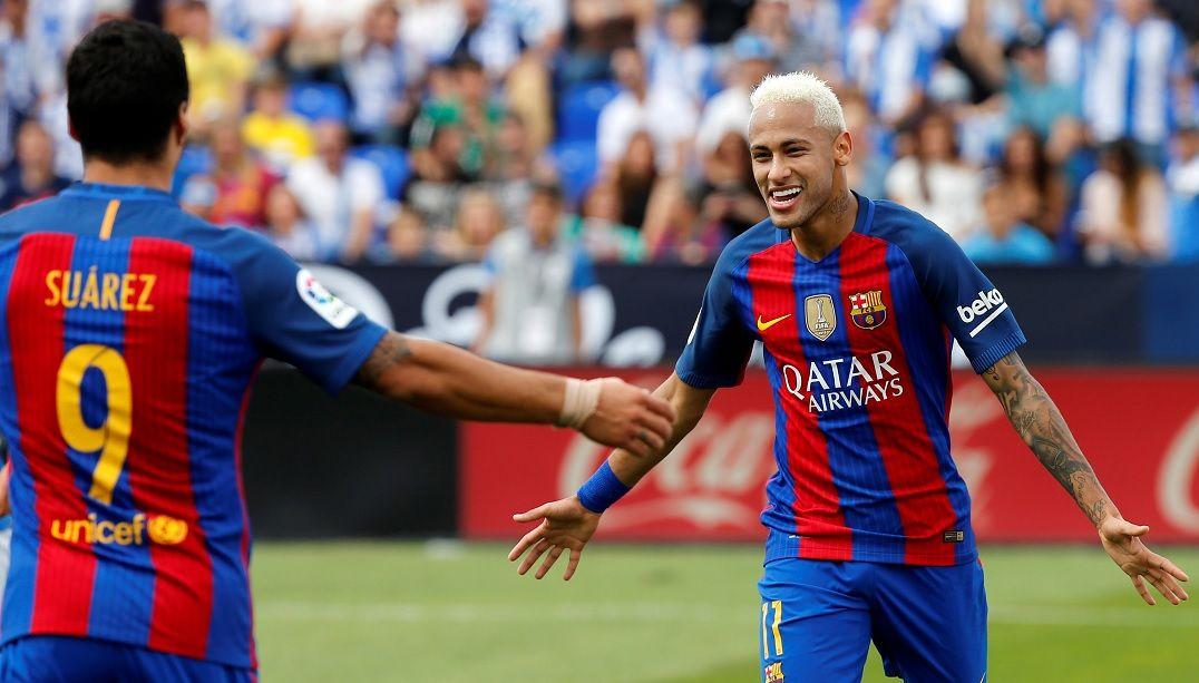 Com novo show do trio de ataque, Barcelona goleia Leganés