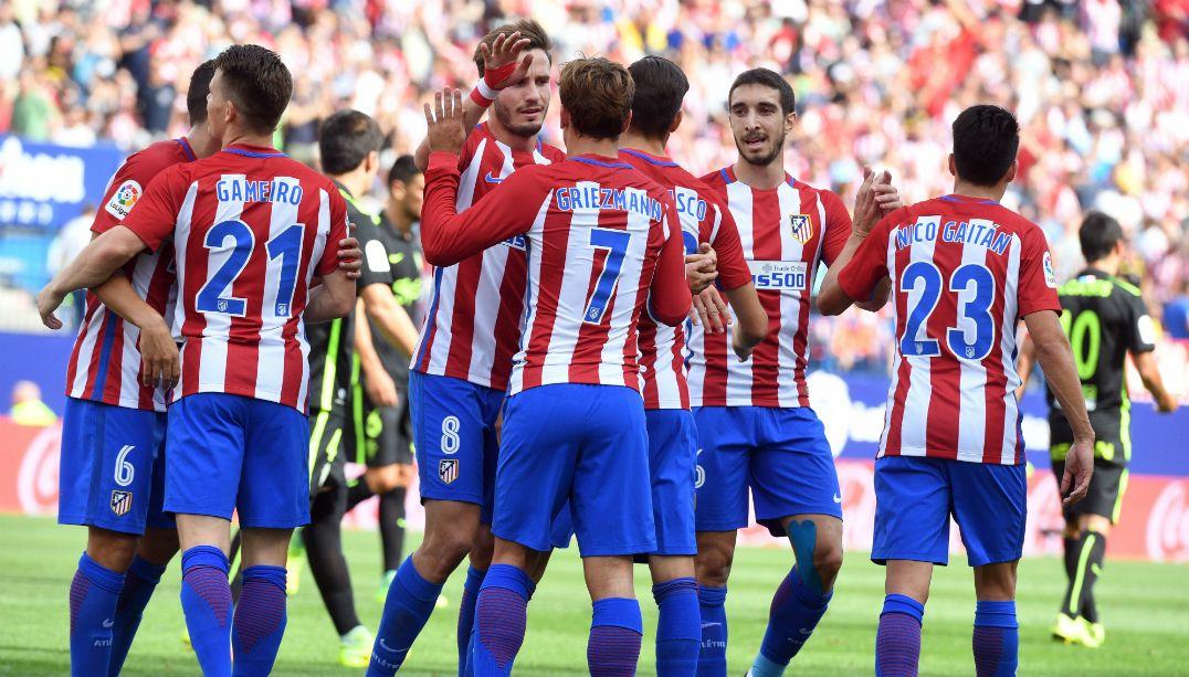 Atlético goleia o Sporting Gijón no Espanhol