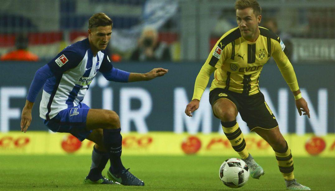 Dortmund e Hertha empatam e Bayern pode disparar na ponta