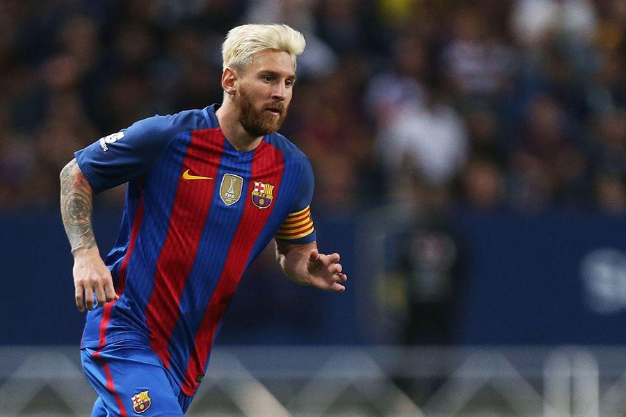 Messi volta com gol e Rafinha marca dois em goleada