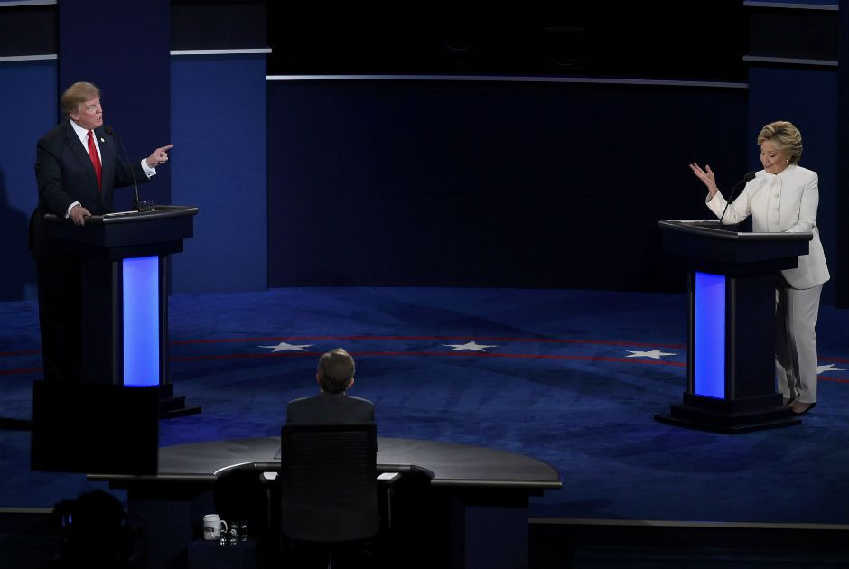 Donald Trump e Hillary Clinton no terceiro e último debate dos EUA / David Becker/Reuters