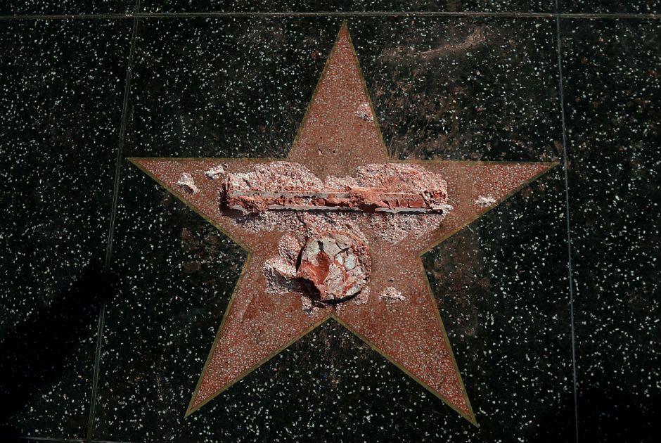 Estrela de Trump na Calçada da Fama de Hollywood é vandalizada