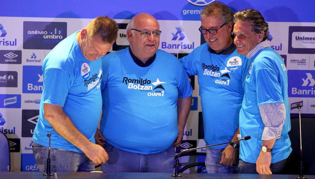 Com 83% dos votos, Bolzan é reeleito presidente do Grêmio
