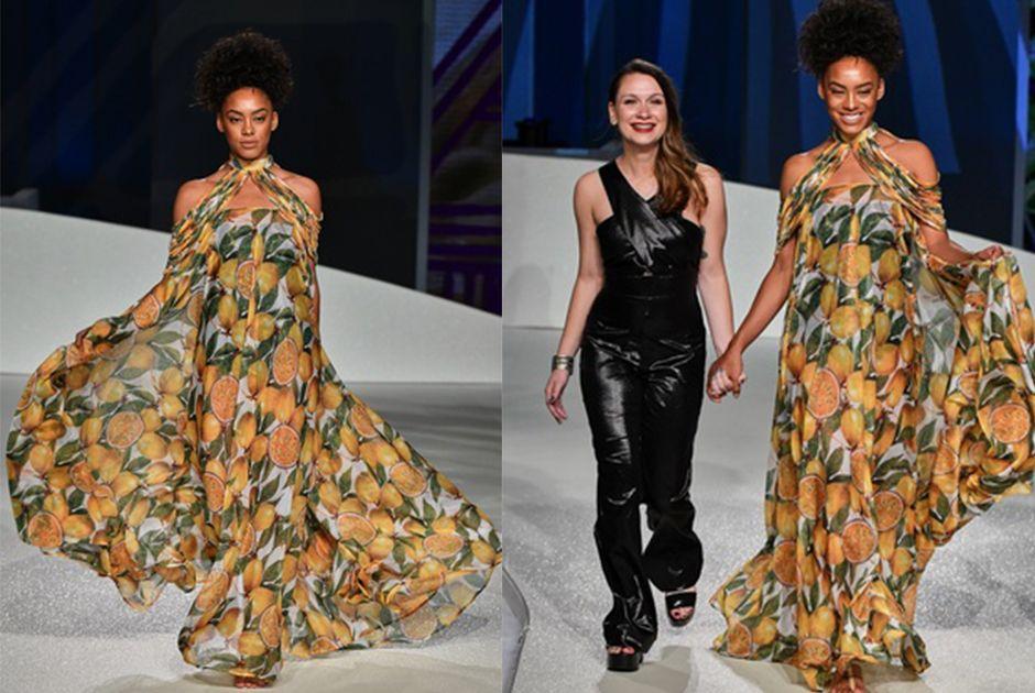 Raissa Santana desfila no Senai Brasil Fashion