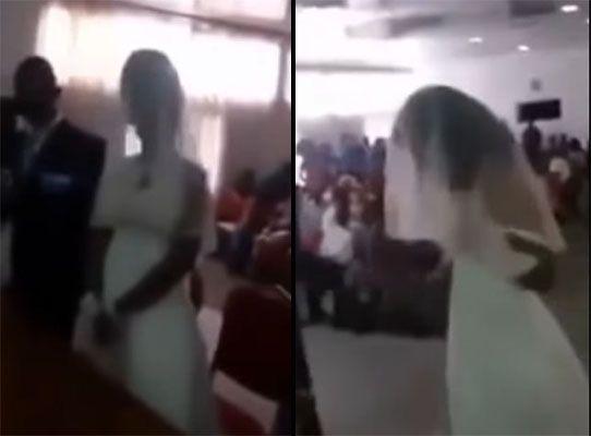 Mulher invade casamento vestida igual à noiva