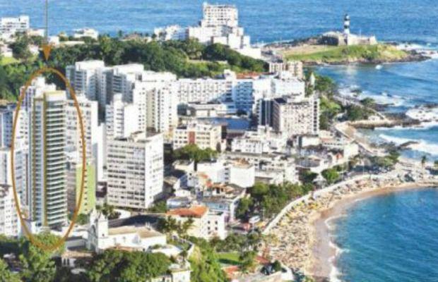 Local onde o edifício de 33 andares seria construido