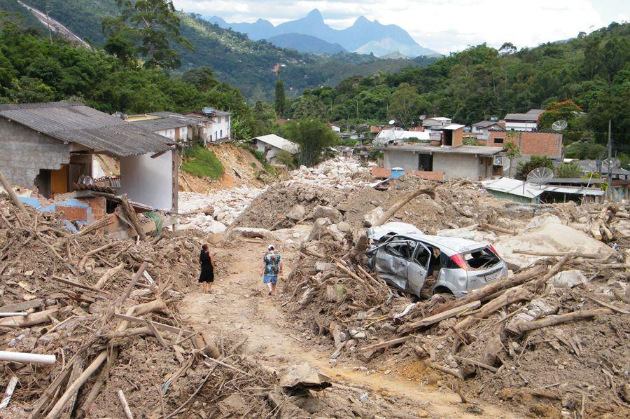 Campo Grande, em Teresópolis, foi uma das regiões mais afetadas pelas chuvas