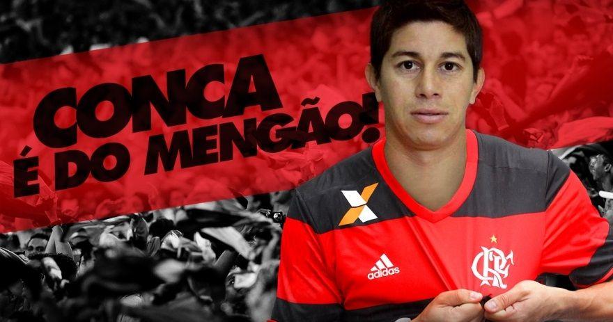 Conca foi anunciado pelo Flamengo - Divulgação/Flamengo