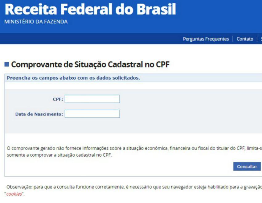 CPF poderá ser atualizado pela internet a partir da próxima semana