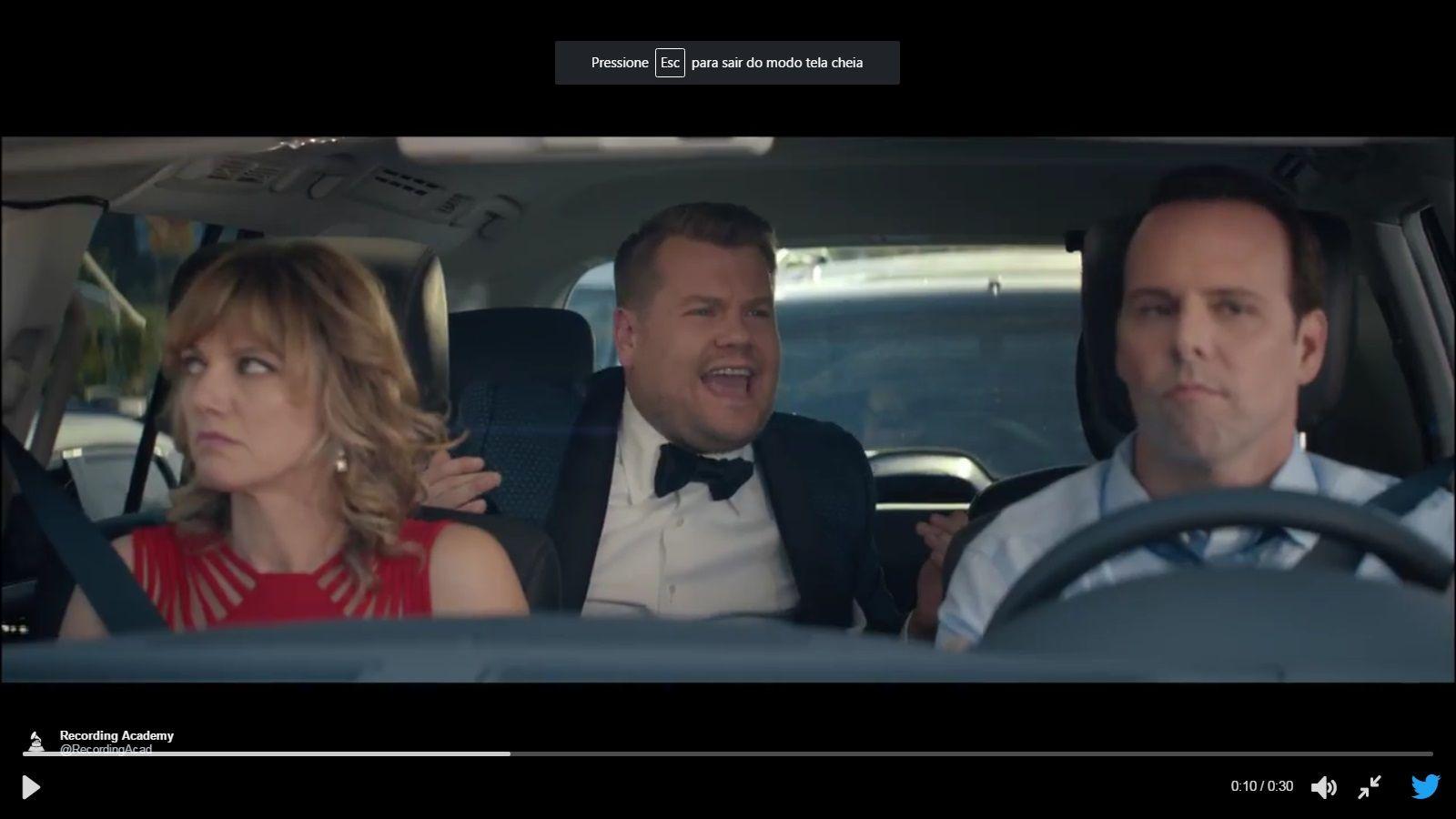 James Corden faz um Carpool Karaoke para o Grammy 2017